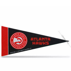 Atlanta Hawks NBA Mini Pennant 9X4 inch, felt, COLLECTIBLE