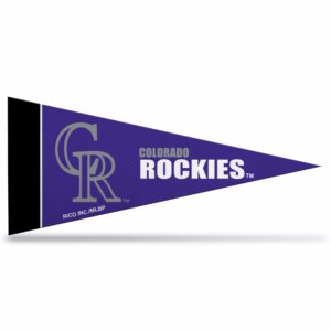 Colorado Rockies MLB Mini Pennant 9X4 inch felt