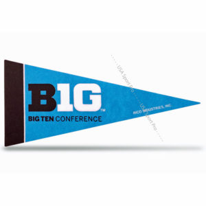 Big 10 NCAA Mini Pennant 9X4 inch, felt