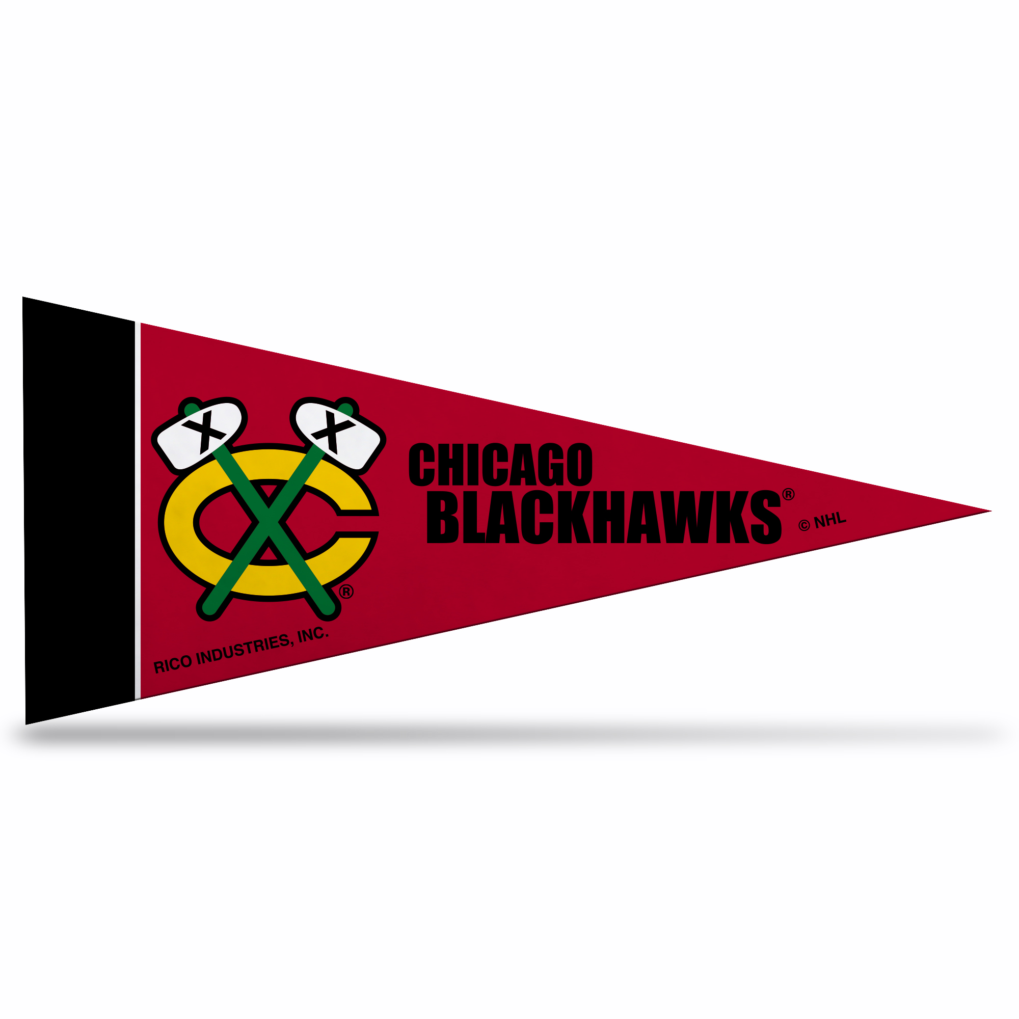 Chicago Blackhawks NHL Mini Pennant 9X4 inch, felt