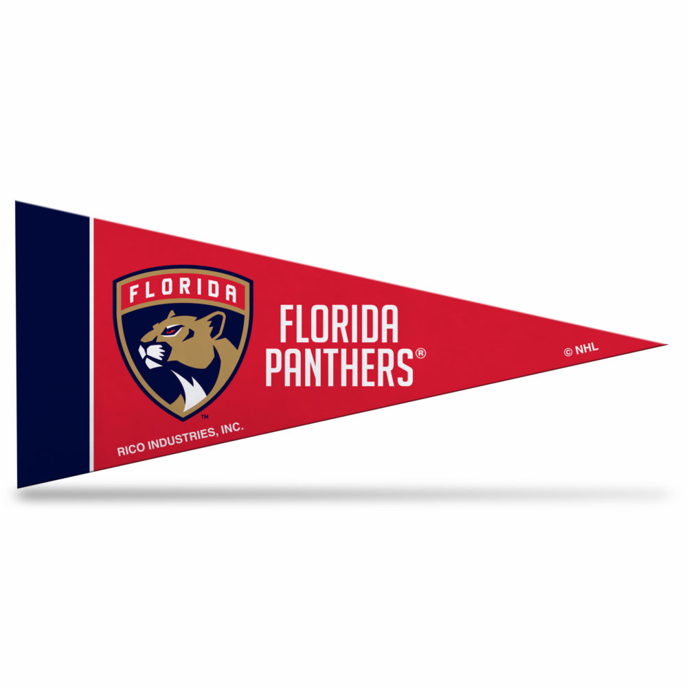 Florida Panthers NHL Mini Pennant 9X4 inch, felt