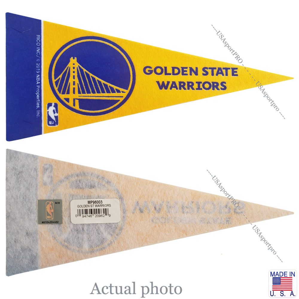 Golden-State-Warriors-Mini-Pennant-9X4-inch-felt-Collectible