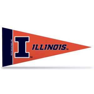 Illinois University NCAA Mini Pennant 9X4 inch, felt