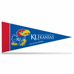 Kansas University NCAA Mini Pennant 9X4 inch, felt