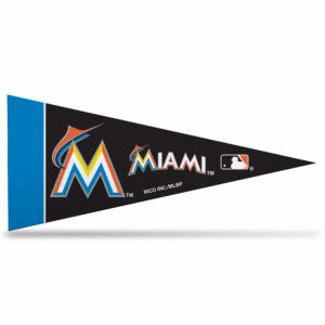 MLB Miami Marlins Mini Pennant 9x4 inch felt