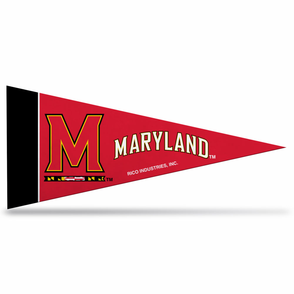 Maryland University NCAA Mini Pennant 9X4 inch, felt