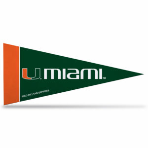 Miami University NCAA Mini Pennant 9X4 inch, felt