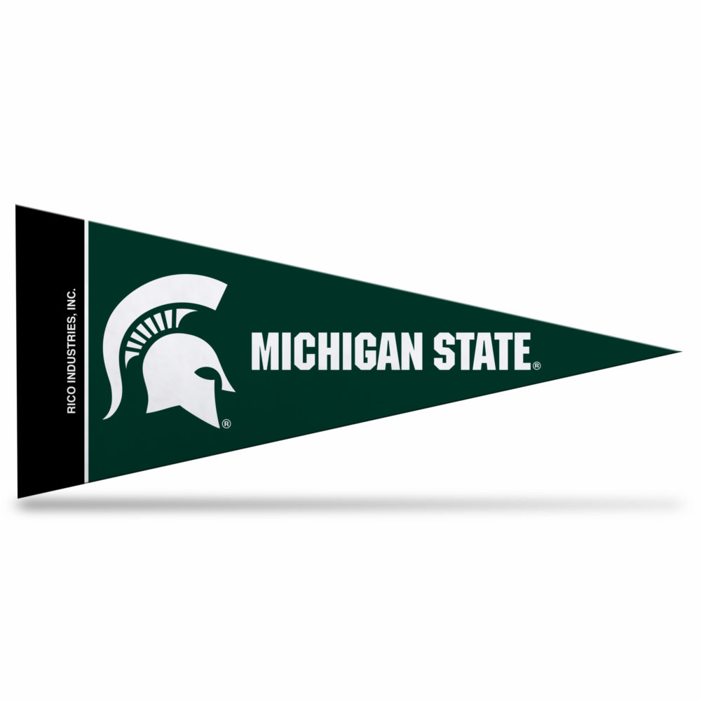 NCAA Michigan State Mini Pennant 9X4 inch,felt