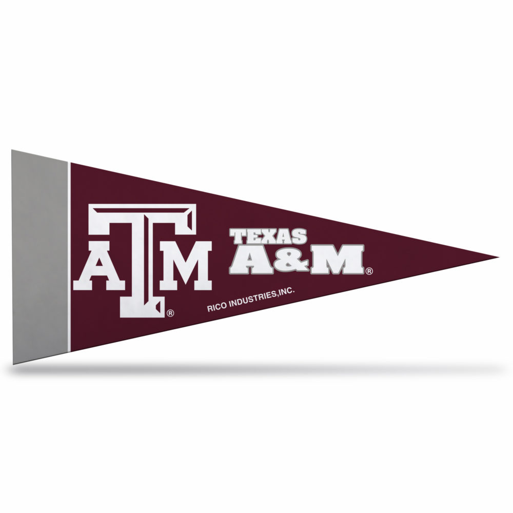 Texas A&M NCAA Mini Pennant 9X4 inch, felt