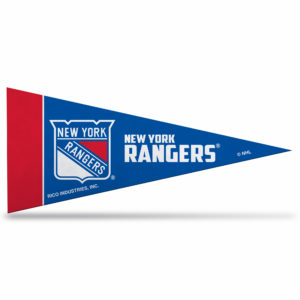 New York Rangers NHL Mini Pennant 9X4 inch, felt