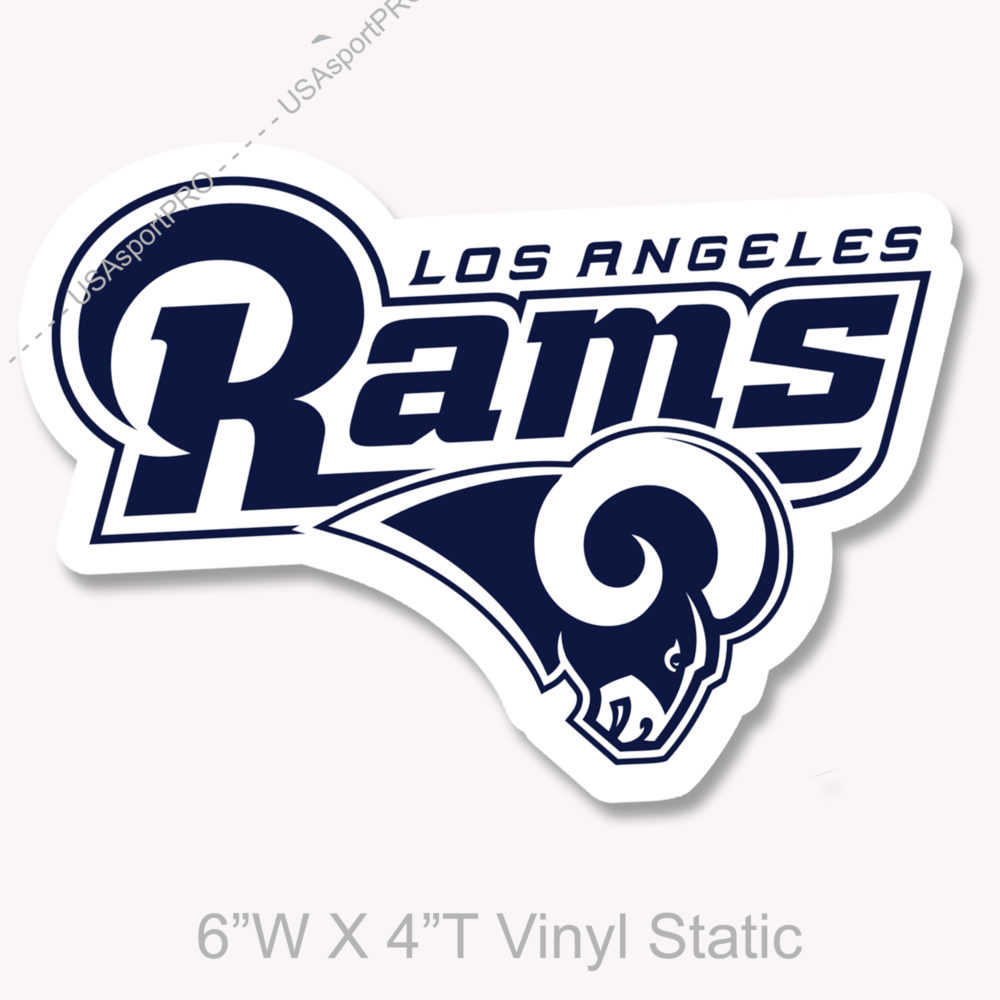 "Los Angeles Rams NFL Vinyl Decorative Sticker 6""W X 5""T"