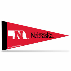 NCAA Nebraska University mini pennant 9x4 inch,felt