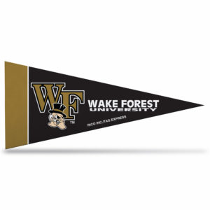NCAA wake Forest mini pennant 9X4 inch,felt