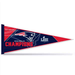 New England Patriots Champions and Super Bowl LIII Pennant 12″x30″ Felt