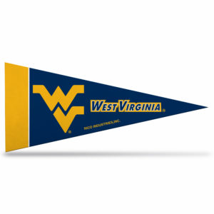 West Virginia University NCAA mini pennant 9x4 inch, felt