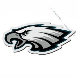 NFL Philadelphia Eagles decorative sticker 7 1/4 X 3 inch