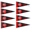 Atlanta Hawks NBA Mini Pennant 9X4 inch, felt, 8 PACK