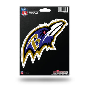 "Baltimore Ravens NFL Vinyl Decorative Sticker 5 1/4""W X 5 1/2""T"