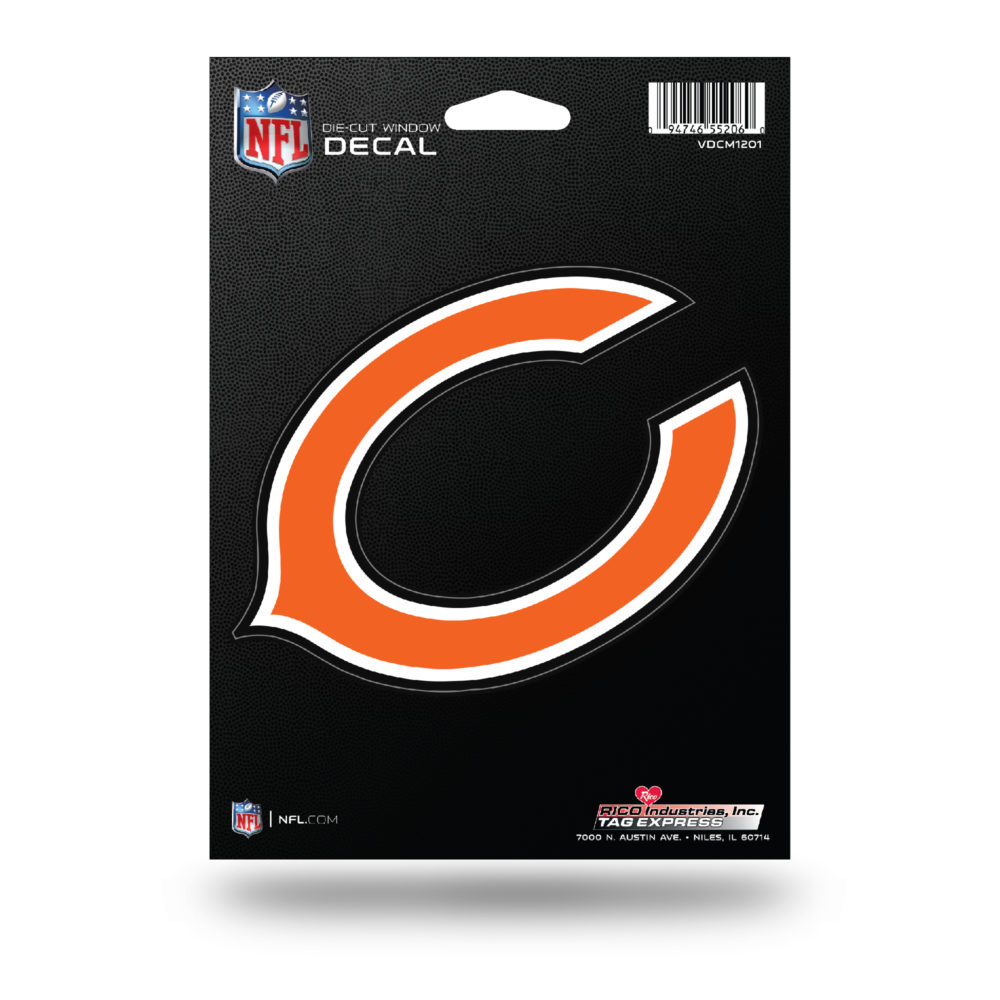 Chicago Bears NFL Vinyl Decorative Sticker 5W X 4T inch