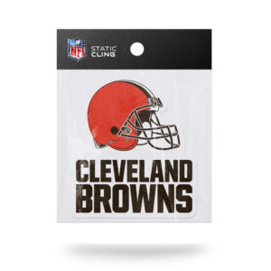 Cleveland Browns NFL Vinyl Static Cling 5W X 5.25T