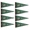 Dallas Stars NHL Mini Pennant 9X4 inch, felt 8 Pack