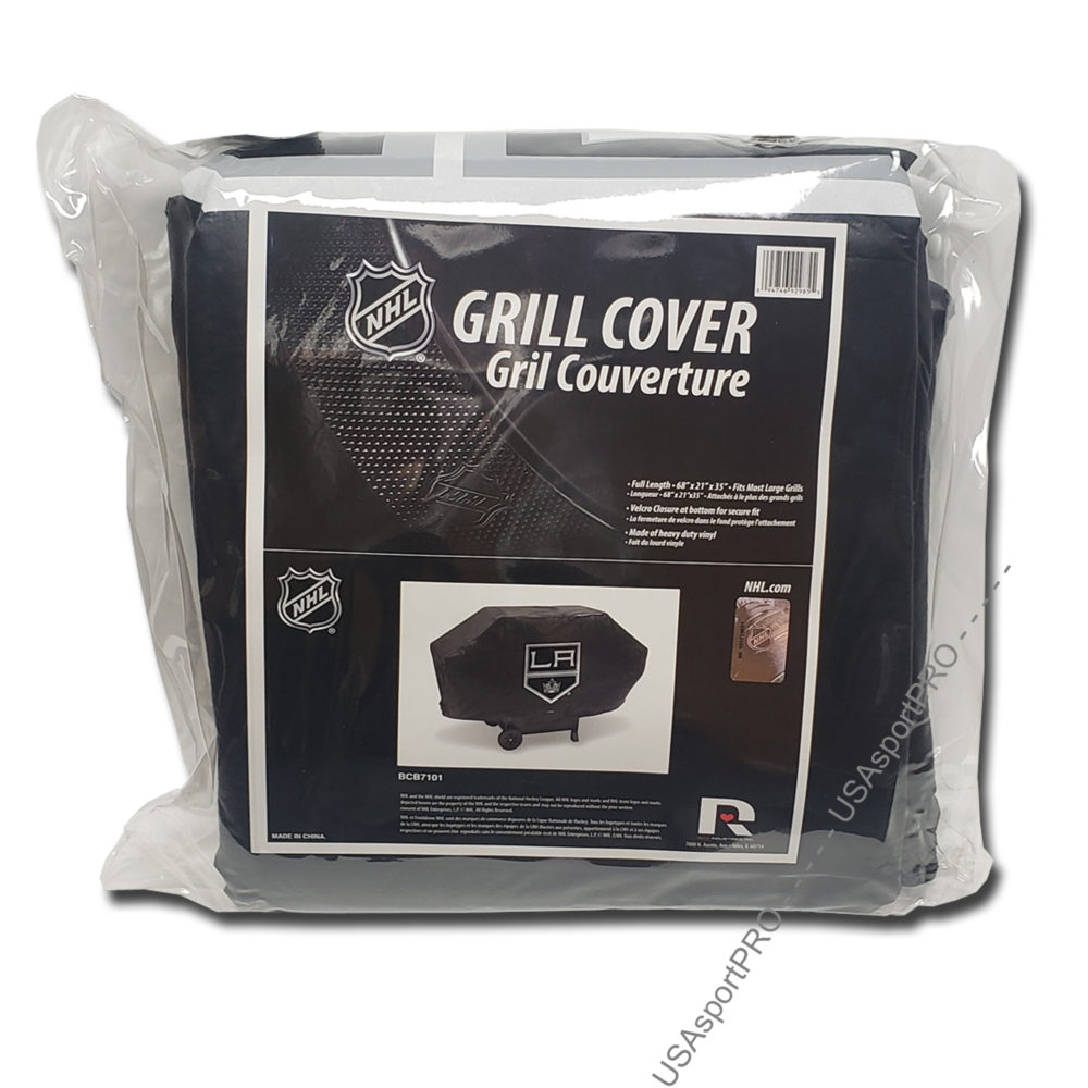 Los Angeles Kings NHL Deluxe Vinyl Padded Grill Cover 5
