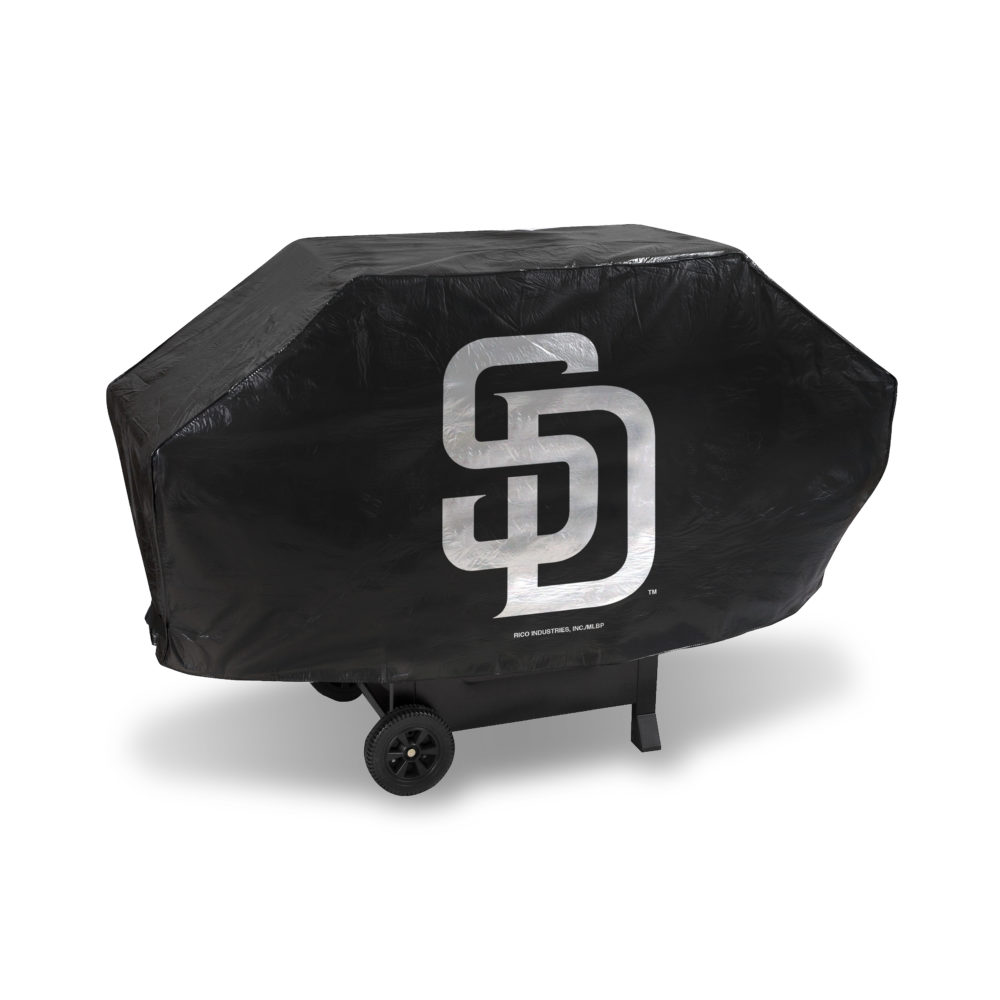 MLB San Diego Padres Deluxe Vinyl Padded Grill Cover by Rico Industries