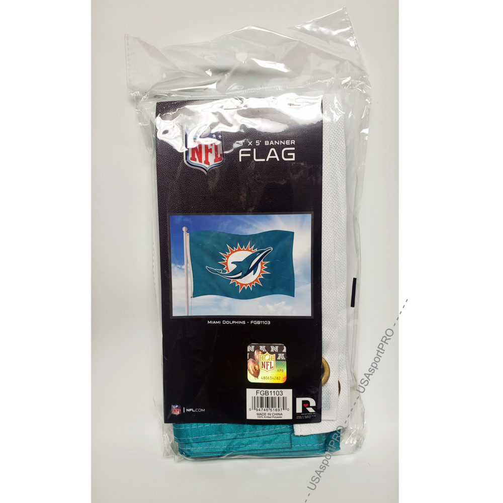 Miami Dolphins NFL Banner Flag 3'X5'