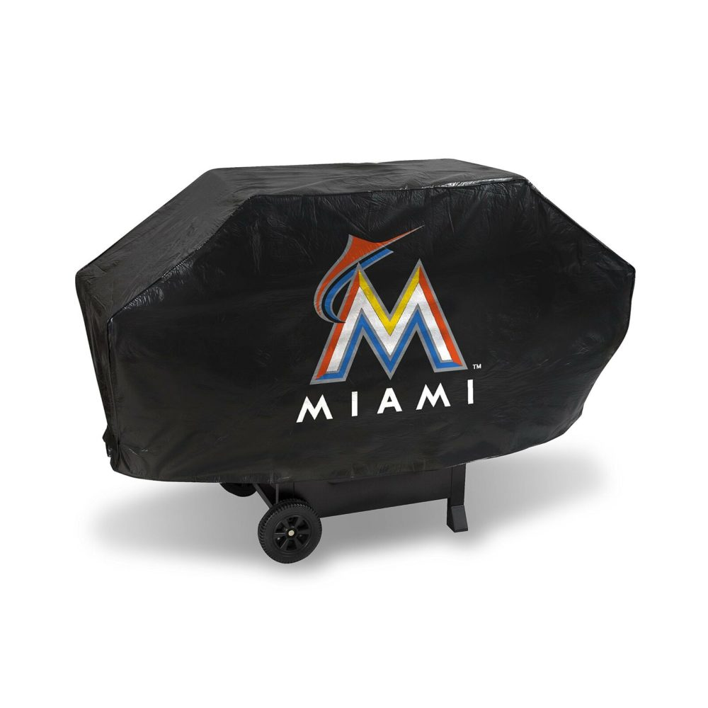 Miami Marlins MLB Deluxe Vinyl Padded Grill Cover