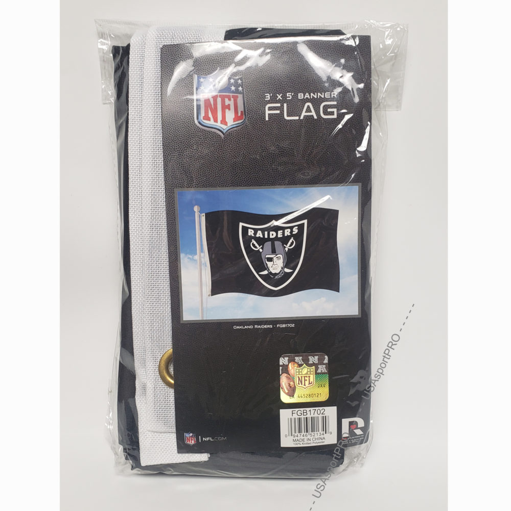 Oakland Raiders NFL Banner Flag 3X5 foot