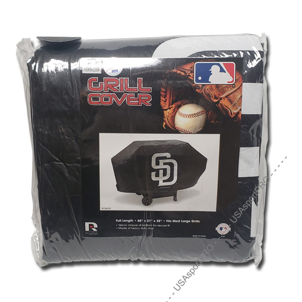 San Diego Padres MLB Black Deluxe Grill Cover
