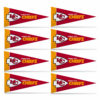 Officially Licensed NFL Kansas City Chiefs 8 pc Mini Pennant