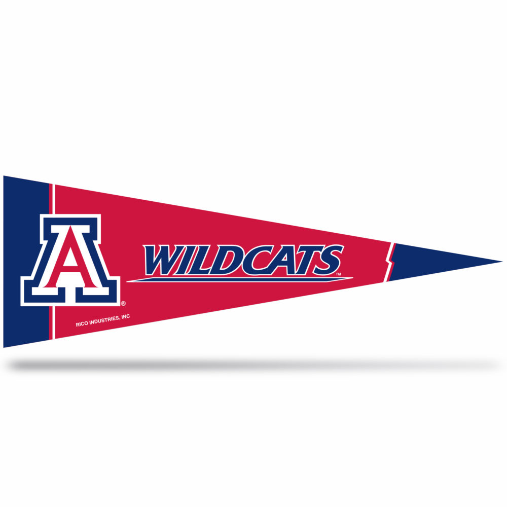 Arizona Wildcats Middle Man Pennant 5 X 14 inch, Felt, Mad in USA