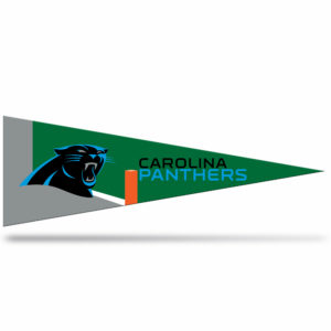 Carolina Panthers NFL Middle Man Pennant 5 X 14 inch, Felt, Mad in USA