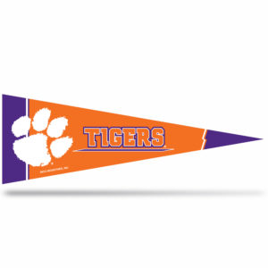 Clemson Tigers Middle Man Pennant 5 X 14 inch, Felt, Mad in USA