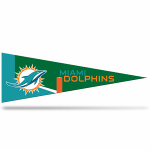 Miami Dolphins NFL Middle Man Pennant 5 X 14 inch
