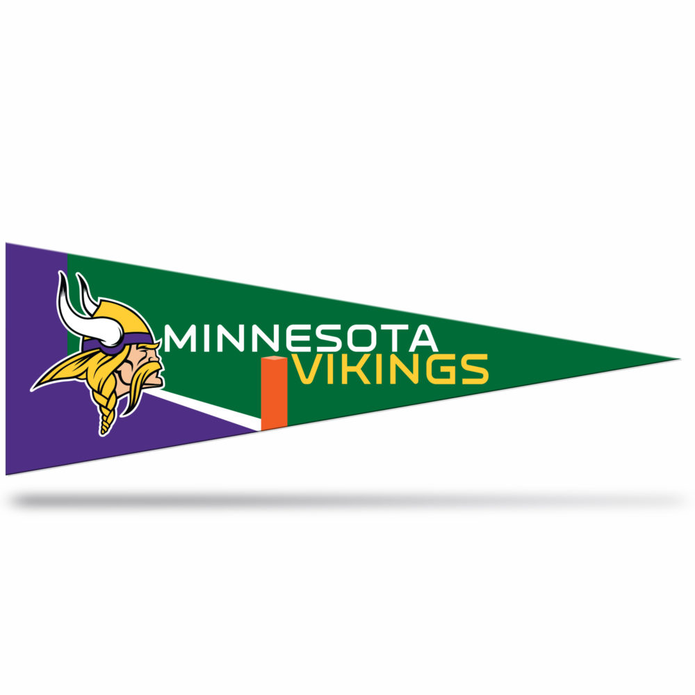 Minnesota Vikings NFL Middle Man Pennant 5 X 14 inch, Felt, Mad in USA