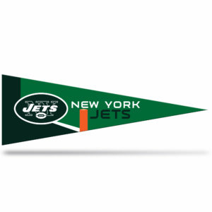 New York Jets NFL Middle Man Pennant 5 X 14 inch, Felt, Mad in USA