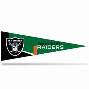 Oakland Raiders NFL Middle Man Pennant 5 X 14 inch, Felt, Mad in USA