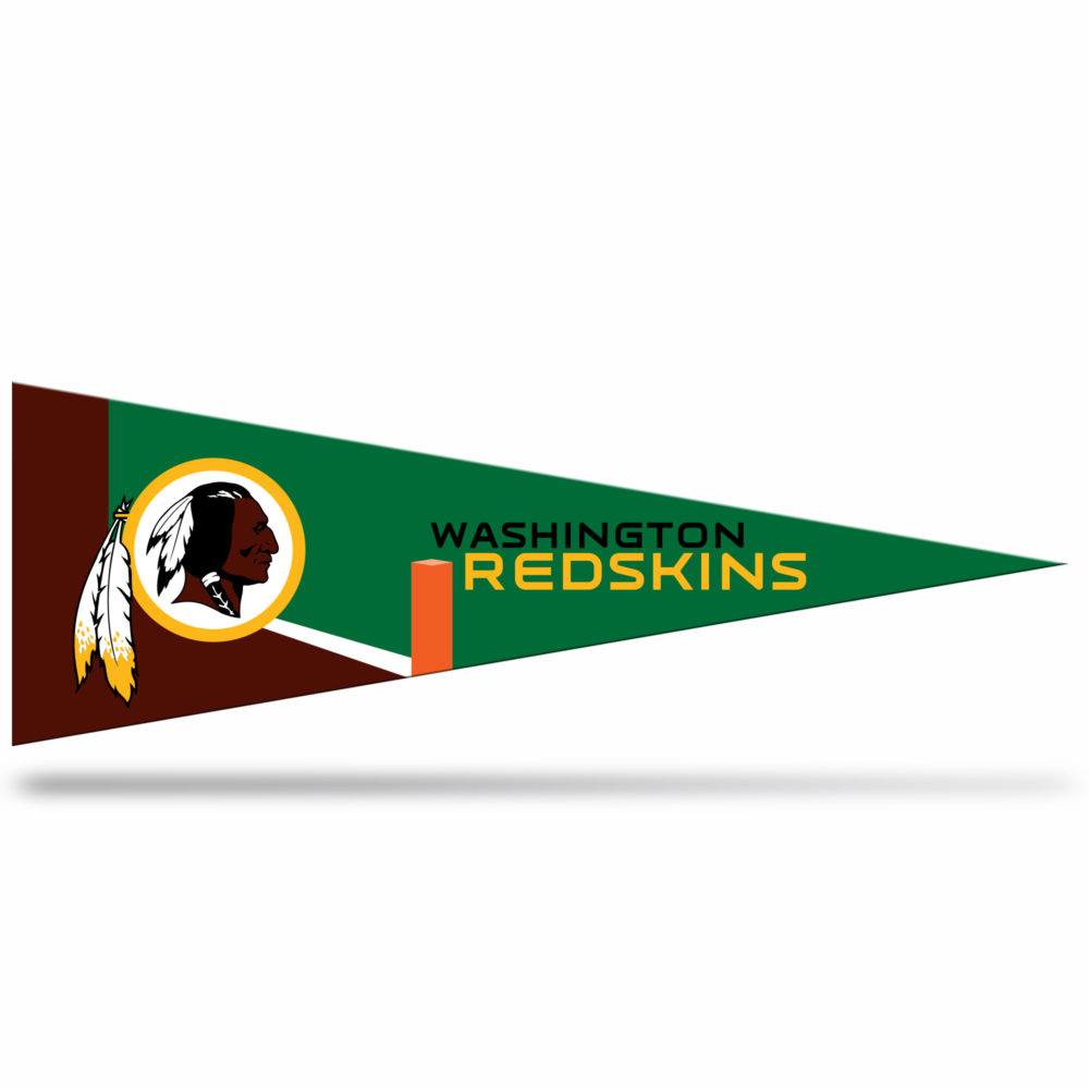 Washington Redskins NFL Middle Man Pennant 5 X 14 inch, Felt, Mad in USA
