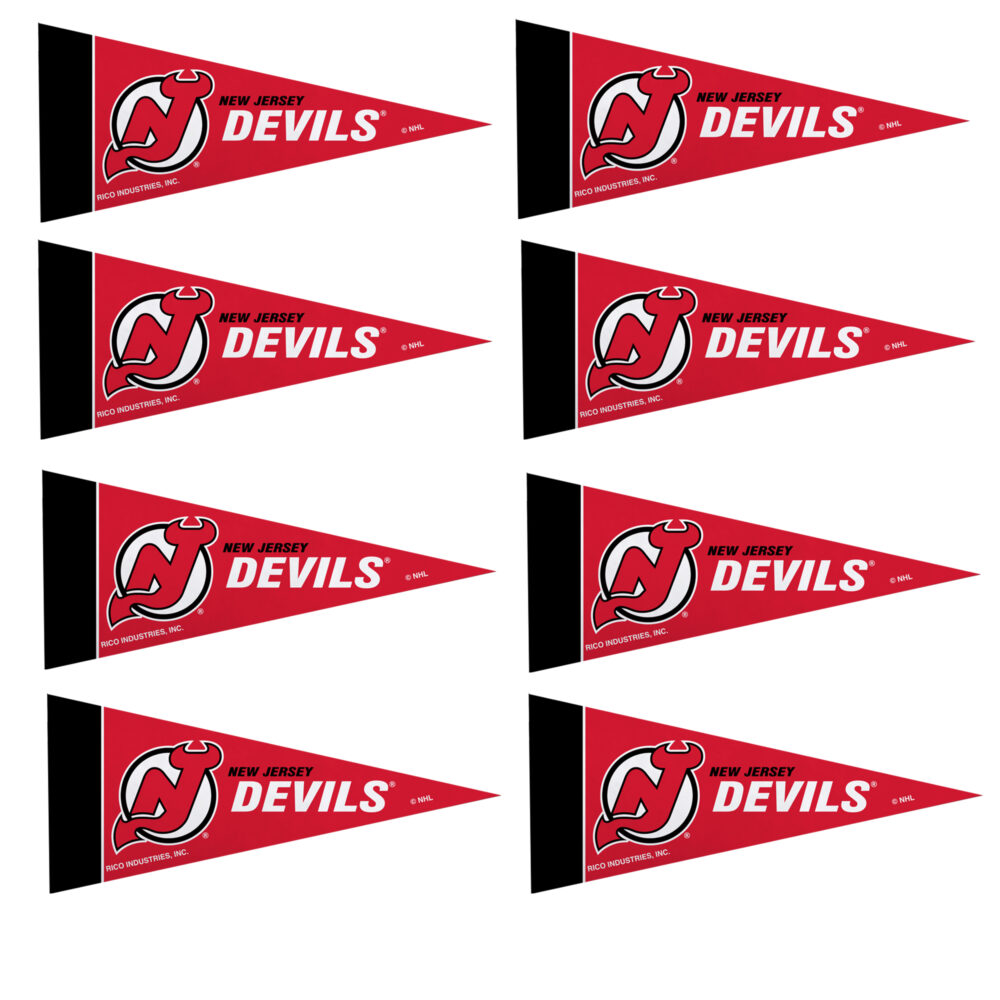 New Jersey Devils NHL Mini Pennant 9X4 inch, felt 8 Pack