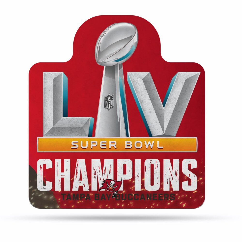 Buccaneers 2021 Super Bowl LV Champs Carded Shape Cut Pennant